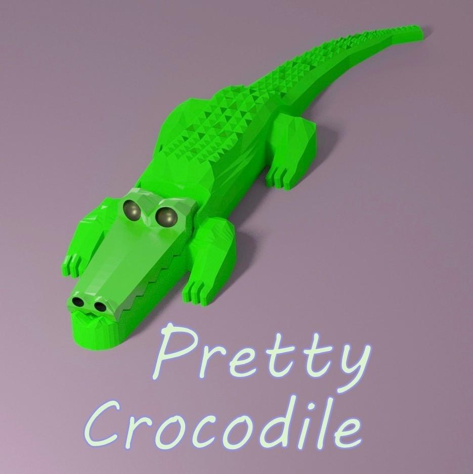 scene_krocodile_title_carre.jpg Download STL file Pretty Crocodile • 3D printer object, 3d-fabric-jean-pierre