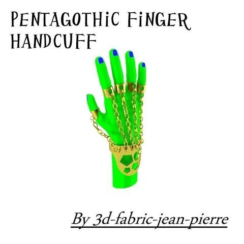 3d-fabric-jean-pierre_Pentagothic_finger_handcuff_carr_title2_Lt.jpg Download STL file pentagothic finger handcuff • Model to 3D print, 3d-fabric-jean-pierre