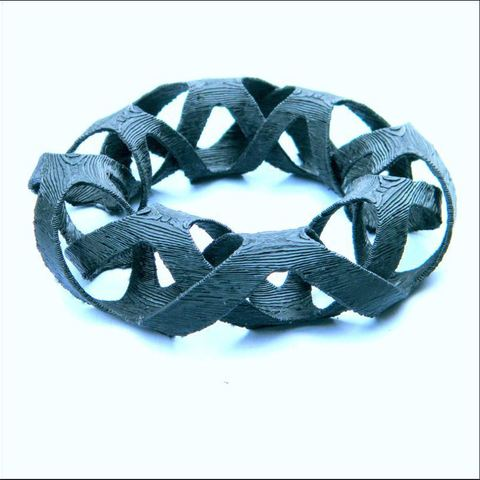 3d printer designs interlaced bangles, 3d-fabric-jean-pierre