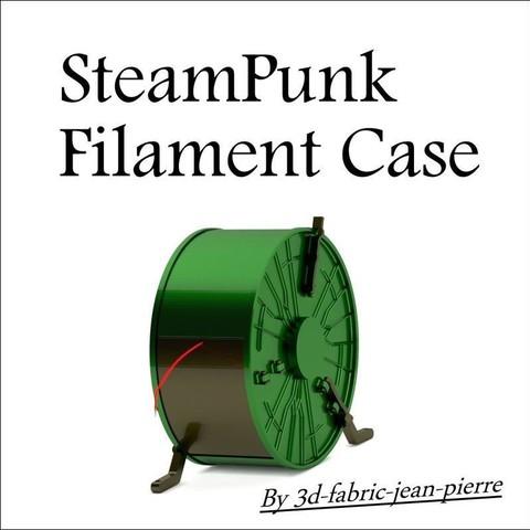 3d-fabric-jean-pierre_tie_hanger_view_carr_title1_Lt_.JPG Download STL file Steampunk filament case • 3D printer object, 3d-fabric-jean-pierre