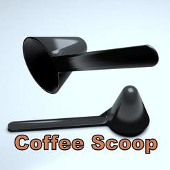 3D printer files Coffee Scoop, 3d-fabric-jean-pierre