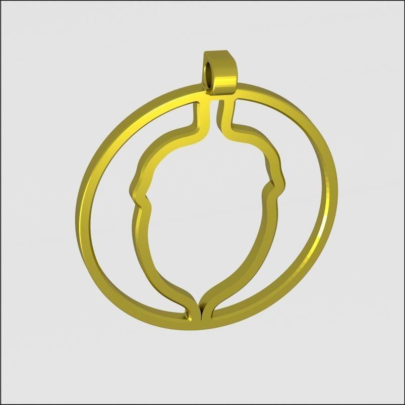Scene_Lt_carre_medaillon_gland.jpg Download STL file unique xmas acorn • Object to 3D print, 3d-fabric-jean-pierre