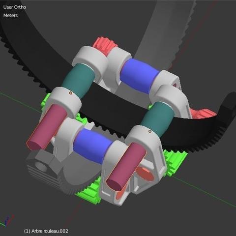 Arbre_Rouleau_Interieur.JPG Download STL file Armillary phone Holder • Design to 3D print, 3d-fabric-jean-pierre