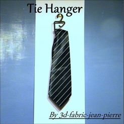 Download 3D printer designs Tie Hanger, 3d-fabric-jean-pierre