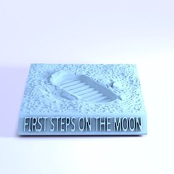 Télécharger STL First steps on the moon, 3d-fabric-jean-pierre