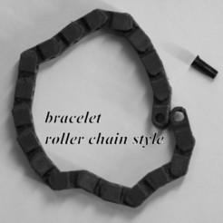 Download 3D printer designs Roller chain bracelet, 3d-fabric-jean-pierre