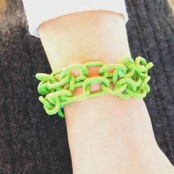 3D printer models Chainmail bangle, 3d-fabric-jean-pierre