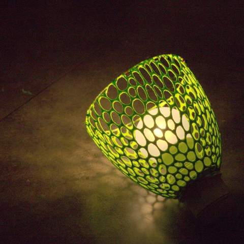 3d printer files voronoi lampshade style, 3d-fabric-jean-pierre
