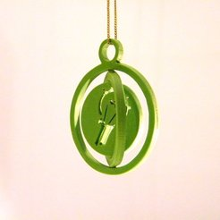 Download 3D model Armillary keychain logo, 3d-fabric-jean-pierre