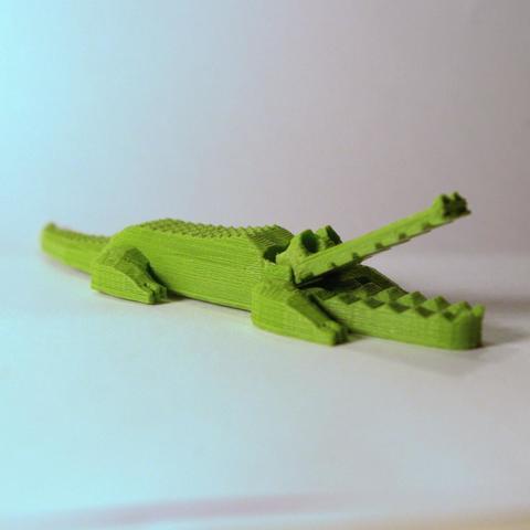 3D print model crocodile during, 3d-fabric-jean-pierre