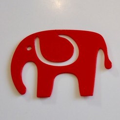 Free 3D printer designs Elephant bookmark, OM3D