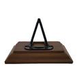 Socle en bois marron foncé 002.png Download STL file COIN DISPLAY • 3D printable model, Helios-Maker