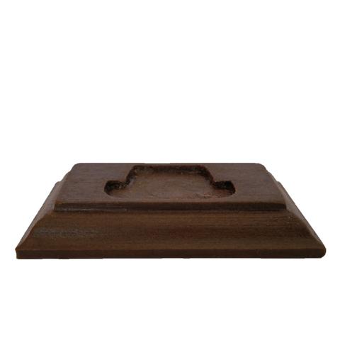 Socle en bois marron foncé 005.png Download STL file COIN DISPLAY • 3D printable model, Helios-Maker