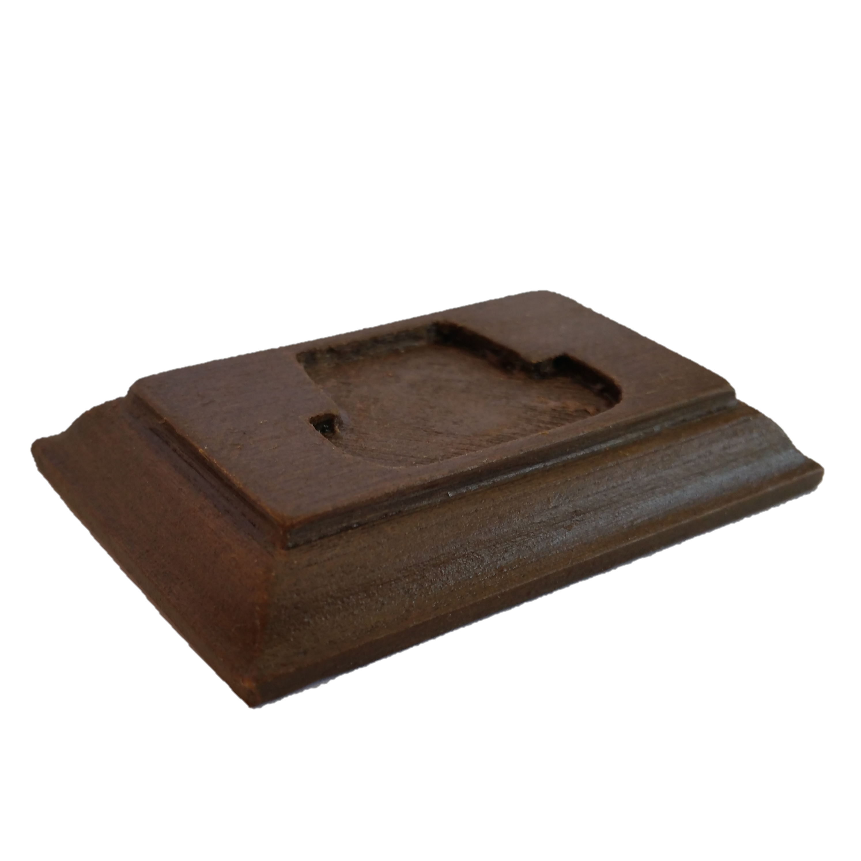 Socle en bois marron foncé 006.png Download STL file COIN DISPLAY • 3D printable model, Helios-Maker