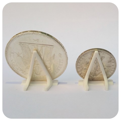 Support pièce blanc arrière.jpg Download STL file COIN DISPLAY UNIT • 3D print object, Helios-Maker