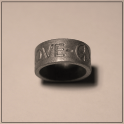 STL PEACE & LOVE RING, Helios-Maker