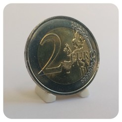 Imprimir en 3D display para monedas de 18-35mm, Helios-Maker