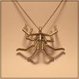 fichier stl Pendentif araignée, Helios-Maker