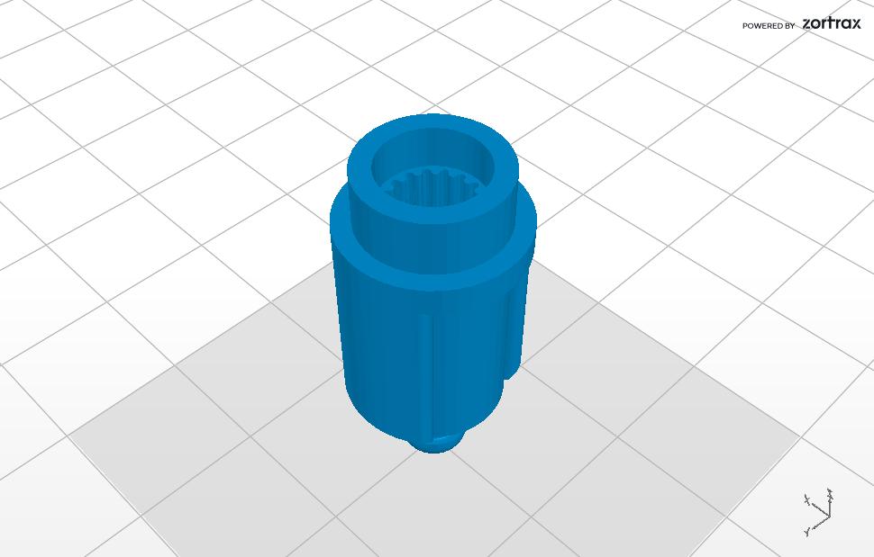 Pignon 2.png Download STL file Gable for Moulinex vintage blender • 3D printer model, Helios-Maker
