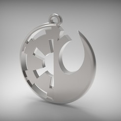 Download 3D printing models Galactic Empire vs Rebel Alliance, kyriakosG