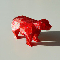 ours1.jpg Download free OBJ file PolygonalBear • 3D printing design, ThomasRaygasse