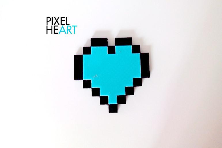 PIXELHEART2.jpg Download free STL file PIXEL HEART • 3D print template, ThomasRaygasse