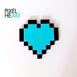 Download free STL file PIXEL HEART • 3D print template, ThomasRaygasse