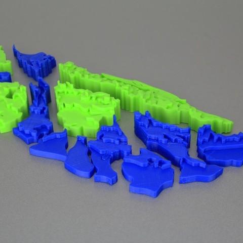 Impresiones 3D gratis Puzzle de Taiwán parte 2 / 台灣拼圖第二彈 -- 台灣地形分層圖, 86Duino
