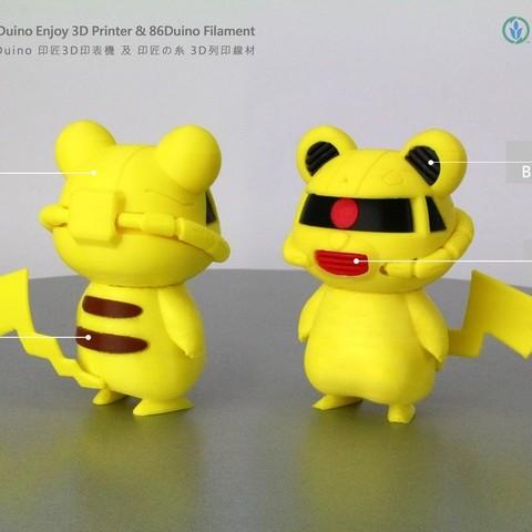 Descargar diseños 3D gratis Zakachu, 86Duino