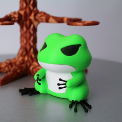 Free STL file Travel Frog with Hat , 86Duino