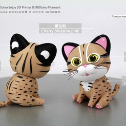 Download free 3D printing models The leopard cat  / 台灣石虎, 86Duino