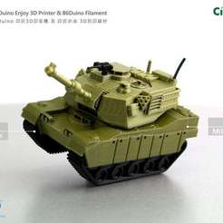 Download free 3D printing models The M1 Abrams tank / M1A2戰車, 86Duino