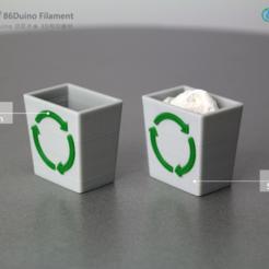 Impresiones 3D gratis Papelera de reciclaje de Windows 95, 86Duino