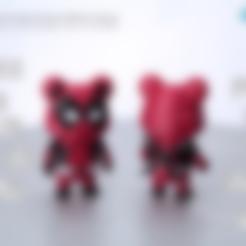 86Duino_bear_Deadpool_type_-_01.STL Download free STL file 86Duino Bear Deadpool • 3D printer template, 86Duino