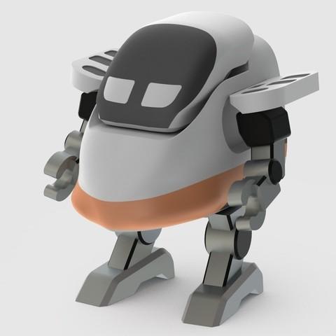 Free STL file Shinkansen Robot / 高鐵機器人, 86Duino