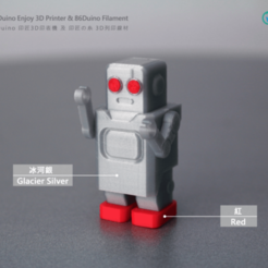 Download free 3D model Classic Robot , 86Duino