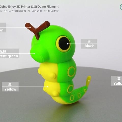 Imprimir en 3D gratis Caterpie /, 86Duino