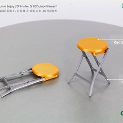 Download free 3D model 86Duino Folding stool / 好折凳, 86Duino