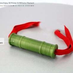 MIL.jpg Download free STL file Kamado Nezuko Bamboo / 竈門禰豆子 竹筒 • 3D printing template, 86Duino