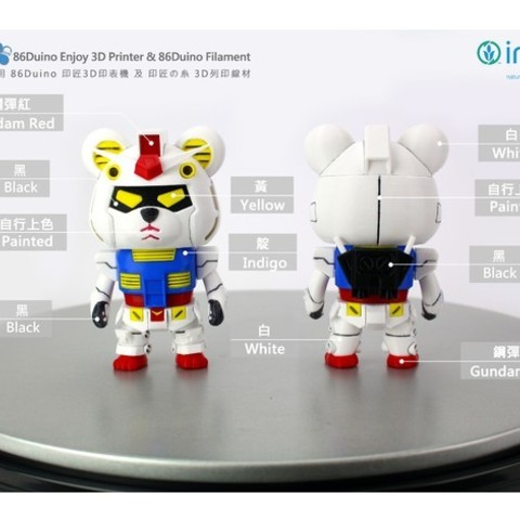 Diseños 3D gratis R-x86 Oso Gundam / 鋼彈熊 / 機動戦士ガンダム, 86Duino