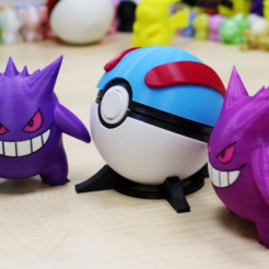 2016-10-26_10-44-19.png Download free STL file Gengar / ゲンガー / 耿鬼 -- Pokemon • 3D printing template, 86Duino