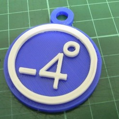 Free 3d print files 86Duino -4 degrees key ring, 86Duino