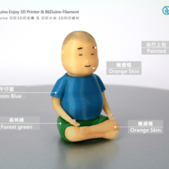 Download free 3D printing models Buddha boy, 86Duino