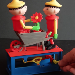 Download free 3D printer files Bill and Ben Wheel Barrow race, woodenclocks
