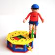 Free 3D printer designs Automata-4 Ben rides around the clock, woodenclocks