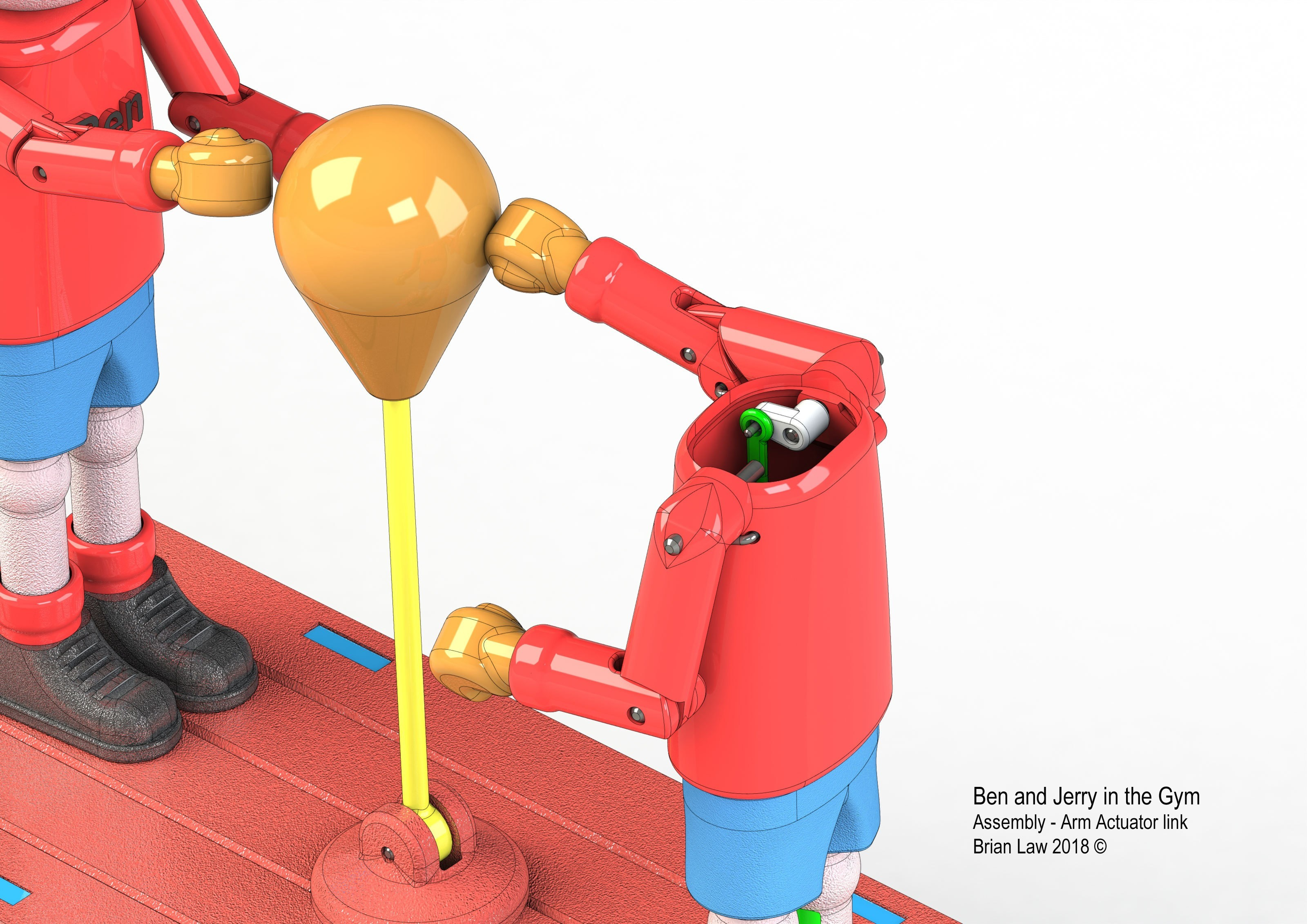 Ben-and-Jerry-4.jpg Download free STL file Ben and Jerry at the Gymnasium • 3D printer object, woodenclocks