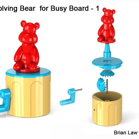 Download free STL Busy Board, woodenclocks