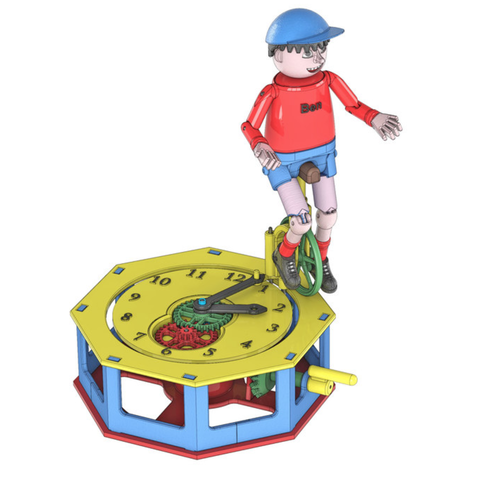 Capture d'écran 2018-04-25 à 09.43.35.png Download free STL file Automata-4 Ben rides around the clock • 3D printer template, woodenclocks