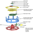 Download free STL files Automata-4 Ben rides around the clock, woodenclocks