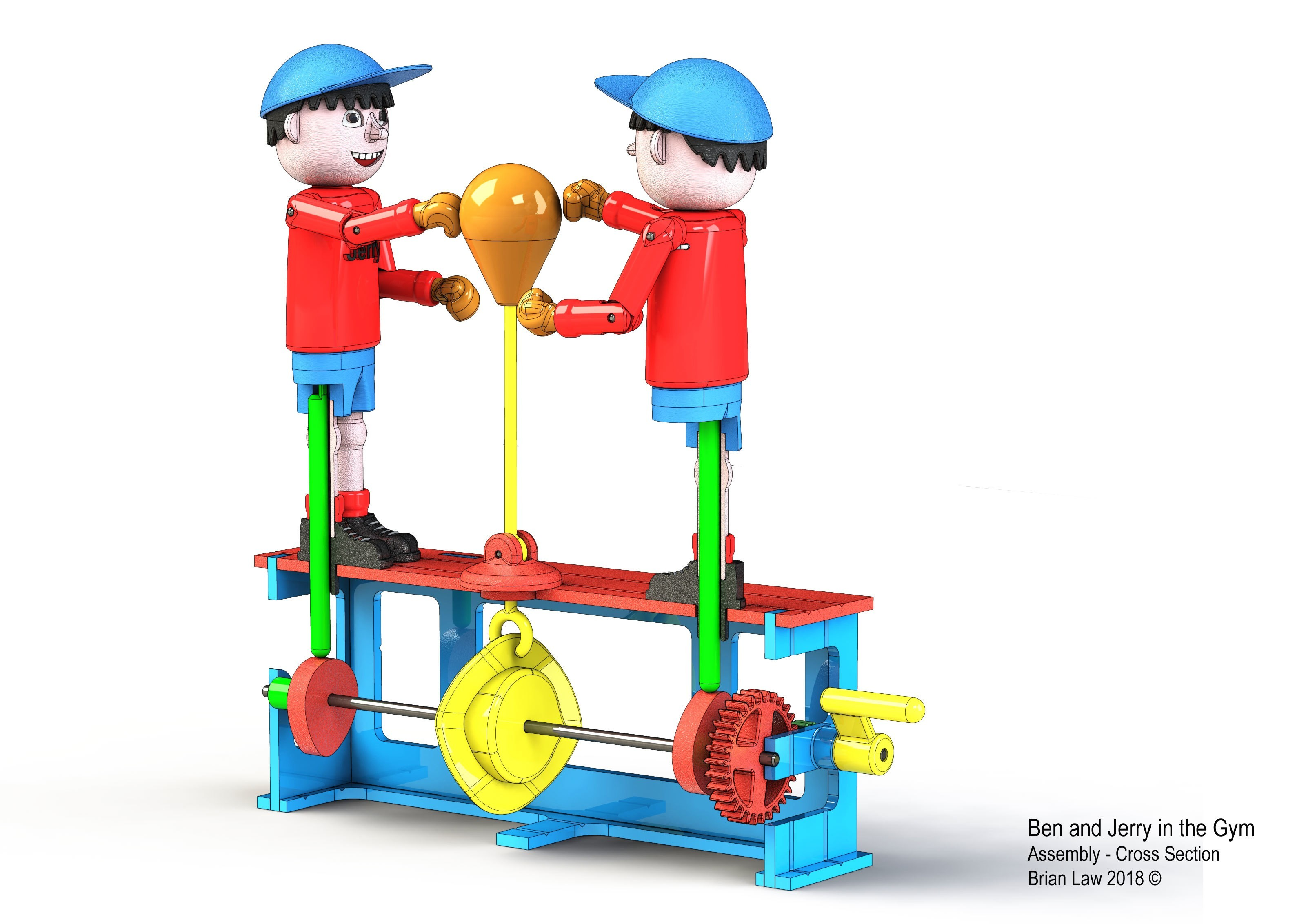 Ben-and-Jerry-2.jpg Download free STL file Ben and Jerry at the Gymnasium • 3D printer object, woodenclocks